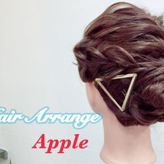 簡単ヘアアレンジ 大人かわいい ヘアアレンジ ショート ヘアスタイルや髪型の写真・画像