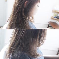 ロング ブルージュ アッシュグレージュ 冬 ヘアスタイルや髪型の写真・画像