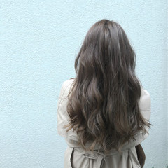 ゆるふわ グラデーションカラー 外国人風 アッシュ ヘアスタイルや髪型の写真・画像