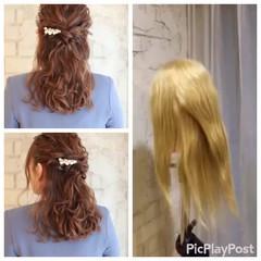ヘアアレンジ ゆるふわ セミロング ショート ヘアスタイルや髪型の写真・画像