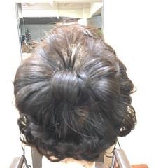 セミロング 成人式 編み込み 簡単ヘアアレンジ ヘアスタイルや髪型の写真・画像