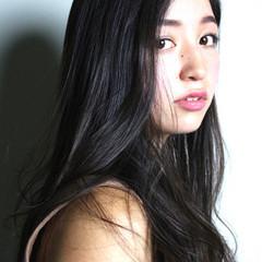 暗髪 アッシュ ピュア ナチュラル ヘアスタイルや髪型の写真・画像