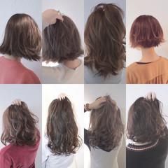 前髪あり ナチュラル アッシュ 色気 ヘアスタイルや髪型の写真・画像