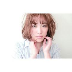 前髪あり フェミニン 大人かわいい デート ヘアスタイルや髪型の写真・画像