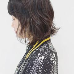 黒髪 ナチュラル アンニュイほつれヘア ボブ ヘアスタイルや髪型の写真・画像