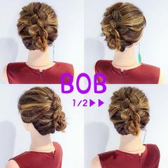 デート ボブ アウトドア エレガント ヘアスタイルや髪型の写真・画像