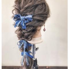 ロング ガーリー 結婚式 夏 ヘアスタイルや髪型の写真・画像