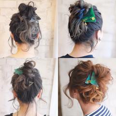 ミディアム グラデーションカラー ヘアアレンジ 外国人風 ヘアスタイルや髪型の写真・画像
