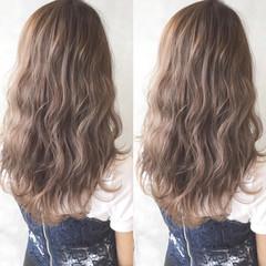 グラデーションカラー ガーリー ハイライト ロング ヘアスタイルや髪型の写真・画像