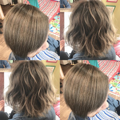 外国人風カラー ベージュ ハイライト ショート ヘアスタイルや髪型の写真・画像