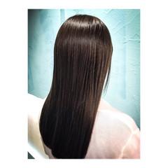 アッシュ ナチュラル ロング ブルー ヘアスタイルや髪型の写真・画像