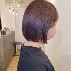 ナチュラル 髪質改善トリートメント ミニボブ 縮毛矯正 ヘアスタイルや髪型の写真・画像