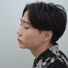 パーマ ショート ナチュラル メンズヘア ヘアスタイルや髪型の写真・画像