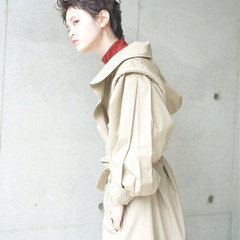 ナチュラル 小顔 冬 似合わせ ヘアスタイルや髪型の写真・画像