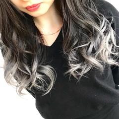 黒髪 モード ゆるふわ デート ヘアスタイルや髪型の写真・画像