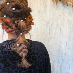 セミロング 結婚式 ナチュラル トリートメント ヘアスタイルや髪型の写真・画像