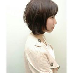 簡単 前髪あり ナチュラル 大人かわいい ヘアスタイルや髪型の写真・画像