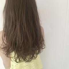 ハイライト アッシュ グラデーションカラー ロング ヘアスタイルや髪型の写真・画像