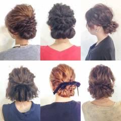 アップスタイル ウェーブ ヘアアレンジ 結婚式 ヘアスタイルや髪型の写真・画像