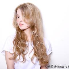 外国人風 ロング ブリーチ ガーリー ヘアスタイルや髪型の写真・画像