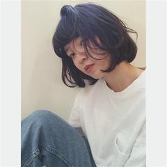 ストリート 外国人風 黒髪 前髪あり ヘアスタイルや髪型の写真・画像