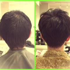 モテ髪 暗髪 メンズ ボーイッシュ ヘアスタイルや髪型の写真・画像