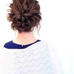ヘアアレンジ ボブ 結婚式 波ウェーブ ヘアスタイルや髪型の写真・画像