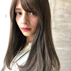 外国人風カラー 透明感カラー ロング コンサバ ヘアスタイルや髪型の写真・画像