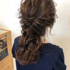 ポニーテール 上品 ヘアアレンジ 結婚式 ヘアスタイルや髪型の写真・画像