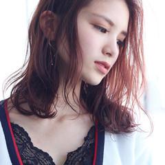 ラズベリーピンク ベリーピンク ピンクヘア 暗髪バイオレット ヘアスタイルや髪型の写真・画像