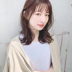 韓国風ヘアー 大人女子 ウルフカット セミロング ヘアスタイルや髪型の写真・画像