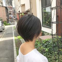 小顔ショート ミニボブ ショートボブ ショートヘア ヘアスタイルや髪型の写真・画像