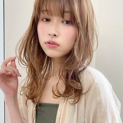 イルミナカラー 髪質改善トリートメント ナチュラル 小顔 ヘアスタイルや髪型の写真・画像