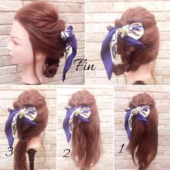 ナチュラル 簡単ヘアアレンジ ヘアアレンジ ヘアアクセ ヘアスタイルや髪型の写真・画像