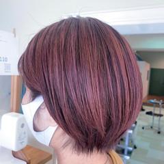 ストリート ショートヘア ピンクバイオレット ショート ヘアスタイルや髪型の写真・画像