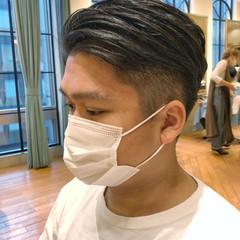 簡単スタイリング 刈り上げ ショート メンズヘア ヘアスタイルや髪型の写真・画像