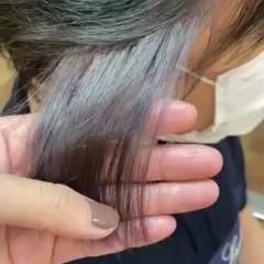 ショート メンズスタイル インナーカラー ブリーチカラー ヘアスタイルや髪型の写真・画像