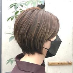 ショートヘア ショート ベージュ ショートボブ ヘアスタイルや髪型の写真・画像