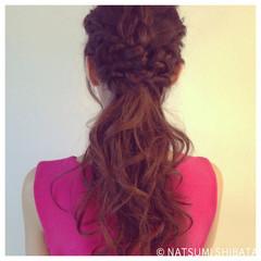 大人かわいい 編み込み ショート フェミニン ヘアスタイルや髪型の写真・画像