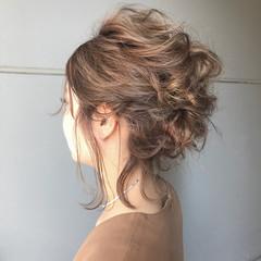 大人かわいい フェミニン ミディアム パーティ ヘアスタイルや髪型の写真・画像