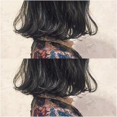 簡単 パーマ ストリート 暗髪 ヘアスタイルや髪型の写真・画像