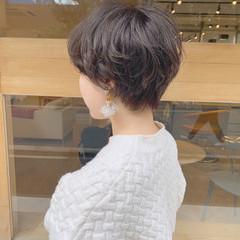 マッシュ パーマ ショート 外国人風 ヘアスタイルや髪型の写真・画像
