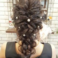 ロング 大人かわいい 外国人風 ハーフアップ ヘアスタイルや髪型の写真・画像