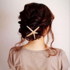 外国人風 簡単ヘアアレンジ セミロング ヘアアレンジ ヘアスタイルや髪型の写真・画像