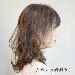 モテ髪 レイヤーカット 透明感カラー ゆるふわパーマ ヘアスタイルや髪型の写真・画像