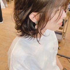 くせ毛 ロブ ウルフカット モテボブ ヘアスタイルや髪型の写真・画像
