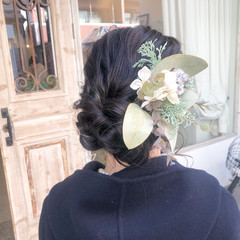 成人式 ヘアセット 結婚式 ミディアム ヘアスタイルや髪型の写真・画像