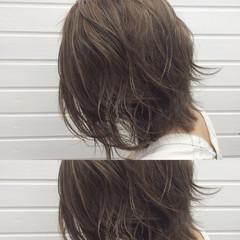透明感 上品 ミディアム 外国人風 ヘアスタイルや髪型の写真・画像