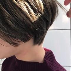 ハイトーン こなれ感 ショート デート ヘアスタイルや髪型の写真・画像