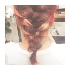セミロング ピンク グラデーションカラー ラベンダーピンク ヘアスタイルや髪型の写真・画像